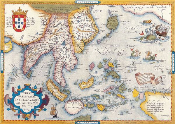 Ortelius, Abraham: Map of South East Asia. Antique/Vintage Map. Fine Art Print/Poster. Sizes: A4/A3/A2/A1 (003876)